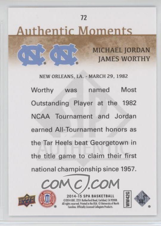 f2e5f554b Report Error. 2014-15 SP Authentic -  Base   72 - Michael Jordan ...