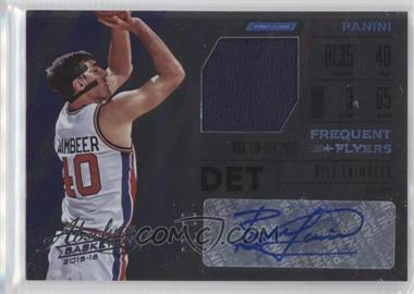 2015-16 Panini Absolute - Frequent Flyer Material Autographs #FR-BL - Bill Laimbeer /99