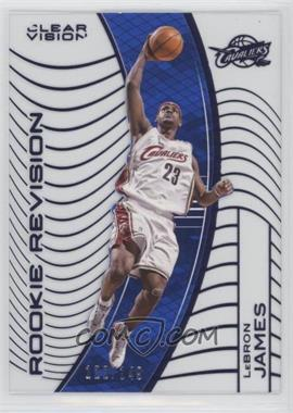 2015-16 Panini Clear Vision - [Base] - Blue #141.2 - Rookie Revision - LeBron James (White Jersey Variation) /149