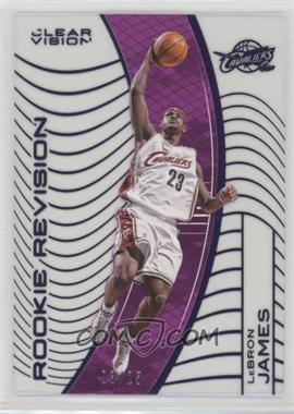 2015-16 Panini Clear Vision - [Base] - Purple #141.2 - Rookie Revision - LeBron James (White Jersey Variation) /25
