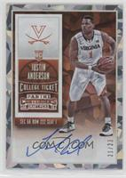 College Ticket Autographs - Justin Anderson #/23