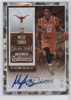 College Ticket Autographs - Myles Turner /23
