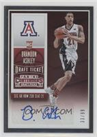 College Ticket Autographs - Brandon Ashley #/99