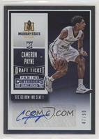 College Ticket Autographs - Cameron Payne /99