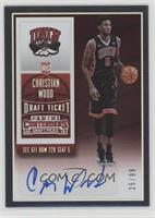 College Ticket Autographs - Christian Wood /99