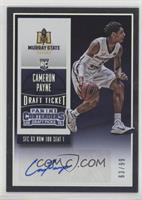 College Ticket Autographs - Cameron Payne #/99
