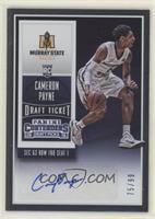 College Ticket Autographs - Cameron Payne #/99