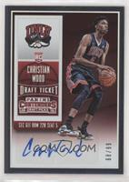 College Ticket Autographs - Christian Wood #/99