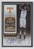 College Ticket Autographs - Josh Richardson #/99
