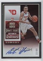 College Ticket Autographs - Andrea Hoover /99
