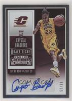 College Ticket Autographs - Crystal Bradford /99