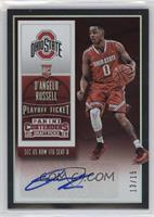 College Ticket Autographs - D'Angelo Russell /15