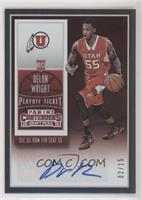 College Ticket Autographs - Delon Wright /15