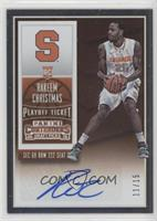 College Ticket Autographs - Rakeem Christmas /15