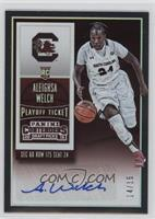 College Ticket Autographs - Aleighsa Welch /15