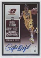 College Ticket Autographs - Crystal Bradford /15