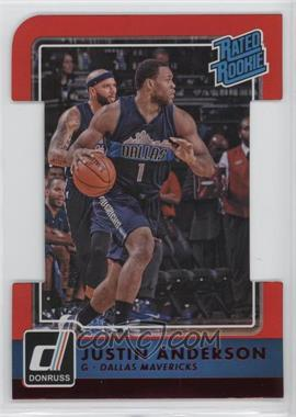 2015-16 Panini Donruss - [Base] - Inspirations Die-Cut #206 - Rated Rookies - Justin Anderson /99