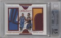 Russell Westbrook, Kevin Love [BGS 8.5 NM‑MT+] #/15