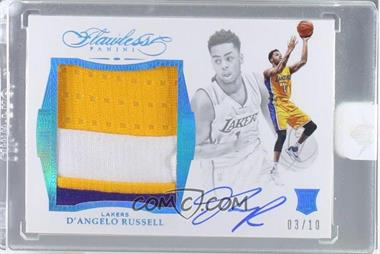 2015-16 Panini Flawless - Star Swatch Signatures - Sapphire #SR-DR - D'Angelo Russell /10 [Uncirculated]