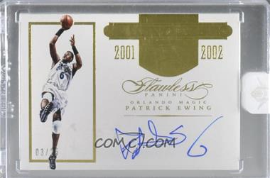 2015-16 Panini Flawless - Transitions Autographs #TR-PE4 - Patrick Ewing /25 [Uncirculated]