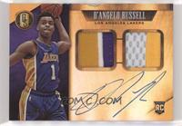Rookie Jersey Autographs Prime Double - D'Angelo Russell [Noted] #/25