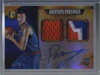 Rookie Jersey Autographs Prime Double - Kristaps Porzingis [Noted] #/25