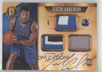 Rookie Jersey Autographs Prime Triple - Justin Anderson #/25