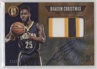 Rookie Jersey Autographs Prime Jumbo - Rakeem Christmas #/25