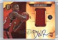 Rookie Jersey Autographs - Delon Wright #/199