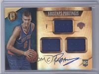 Rookie Jersey Autographs Triple - Kristaps Porzingis /99