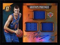 Rookie Jersey Autographs Triple - Kristaps Porzingis #/99