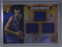 Rookie Jersey Autographs Triple - Kristaps Porzingis [Noted] #/99