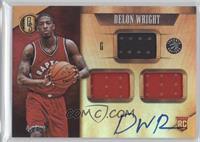 Rookie Jersey Autographs Triple - Delon Wright #/99