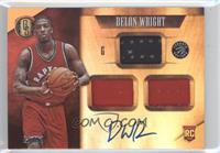 Rookie Jersey Autographs Triple - Delon Wright /99