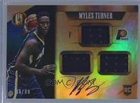 Rookie Jersey Autographs Triple - Myles Turner #/99