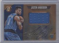 Rookie Jersey Autographs Jumbo - Justin Anderson #/49