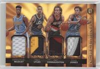 Pat Connaughton, Emmanuel Mudiay, Trey Lyles, Tyus Jones #/25