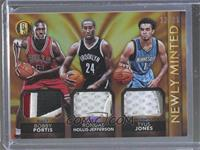 Bobby Portis, Rondae Hollis-Jefferson, Tyus Jones #/25