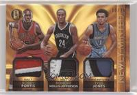 Bobby Portis, Rondae Hollis-Jefferson, Tyus Jones [EX to NM] #/25