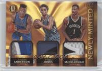 Tyus Jones, Chris McCullough, Justin Anderson #/25