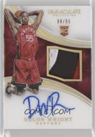 Rookie Patch Autographs - Delon Wright #9/55