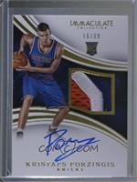 Rookie Patch Autographs - Kristaps Porzingis [Noted] #/99