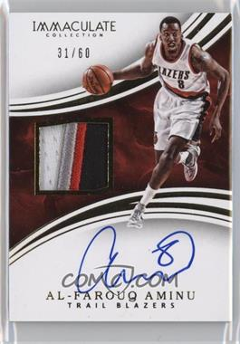 2015-16 Panini Immaculate Collection - Patch Autographs #PA-AAM - Al-Farouq Aminu /60