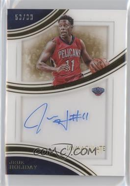 2015-16 Panini Immaculate Collection - Shadowbox Signatures #SS-JH - Jrue Holiday /99