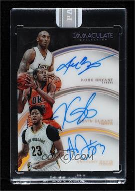 2015-16 Panini Immaculate Collection - Trio Autographs - White Box #11 - Anthony Davis, Kevin Durant, Kobe Bryant /1 [Uncirculated]