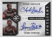 Terry Porter, Clyde Drexler /25