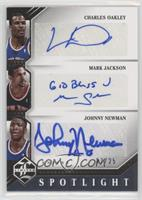 Charles Oakley, Johnny Newman, Mark Jackson /25