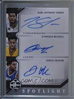 Jahlil Okafor, D'Angelo Russell, Karl-Anthony Towns #/25