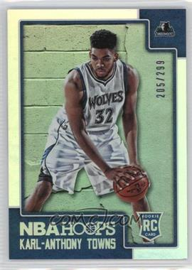 2015-16 Panini NBA Hoops - [Base] - Silver #289 - Rookies - Karl-Anthony Towns /299