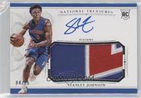 Rookie Patch Autographs - Stanley Johnson #/25